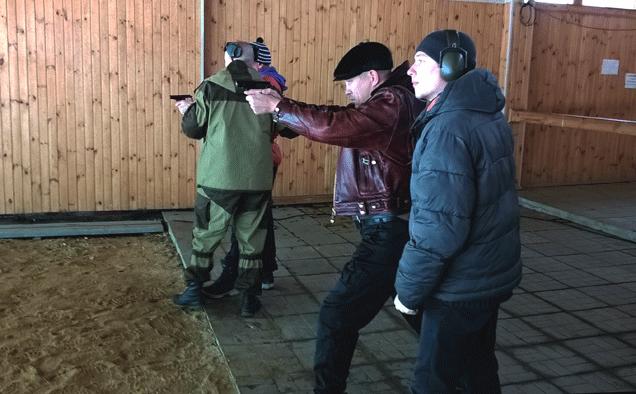 Бойцы «Дельта-Челябинск» на тренировке по стрельбе