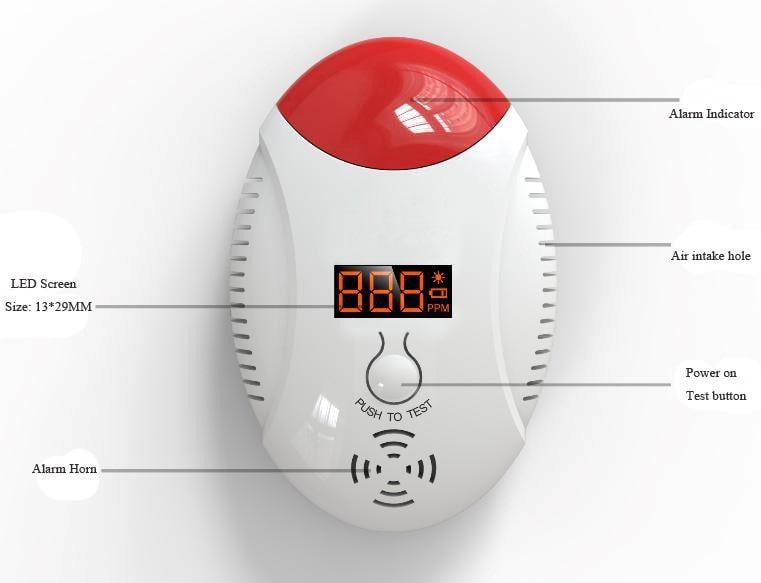 Купить бытовой датчик утечки газа с клапаном