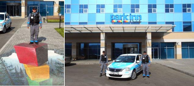 Охранники «Дельта-Новокузнецк» на открытии отеля Park Inn byRadisson